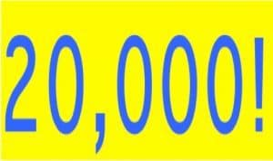 20000 Unsecured Loan Bad Credit blue numbers on yellow background