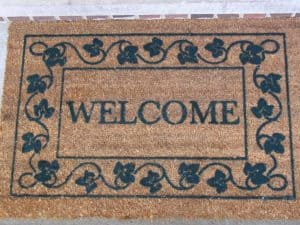 Welcome Finance Loans welcome door mat
